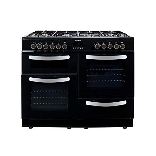 electriQ 100cm Dual Fuel Range Cooker - Black