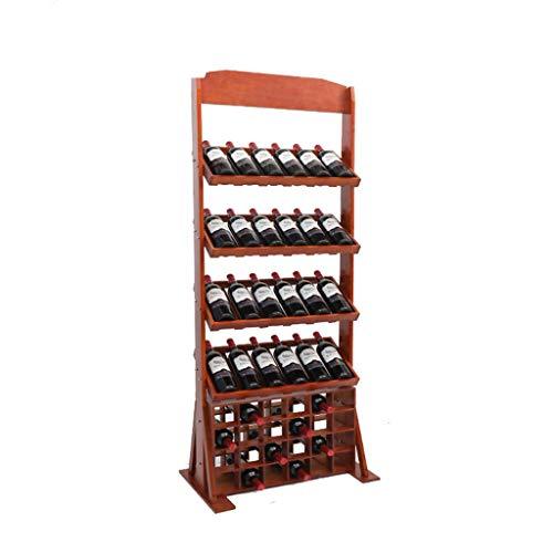 Soporte organizador de botelleros Vino de madera estante del vino de almacenamiento en rack de visualización encimera Estantes con patas Planta casera de la cocina con patas Botellero Estantes de exhi