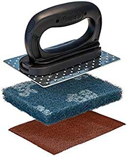 Core Grip Black Griddle Accessories - Grill Cleaning and Griddle Scraper - Perfect for Flat top Grill or hibachi - Scotch ...