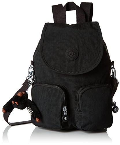 Kipling Firefly Up - Zaini Donna, Nero (True Black), 22x31x14 cm