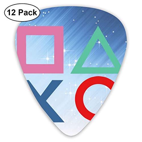 Klassischer Gitarren-Pick, halbrunde Gitarren-Paddel für Ukulele-Gitarrenbässe und Musikinstrumente mit niedriger Spannung (PlayStation Joypad-Gitarren-Picks)