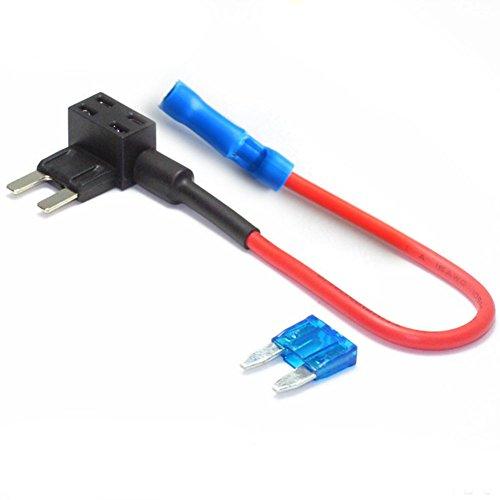HMOCNV 1 pcs de voiture auto Truck fusible Mini robinet câble adaptateur double circuit adaptateur support