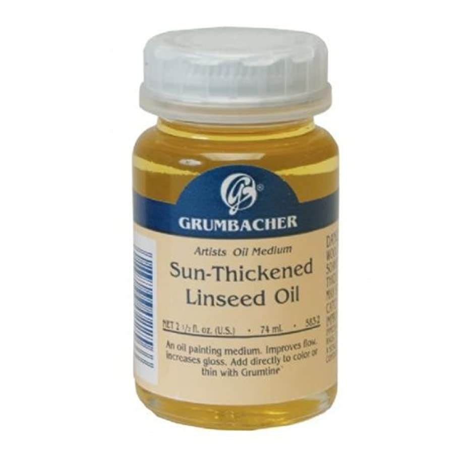 Grumbacher Sun-Thickened Linseed Oil Medium for Oil Paintings, 2-1/2 Oz. Jar, #5832
