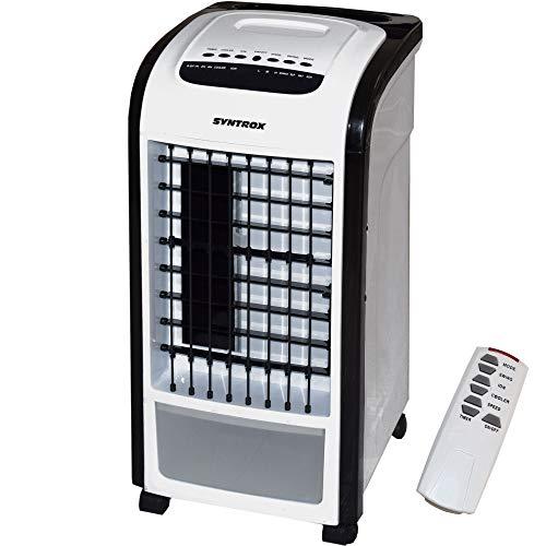 Syntrox Germany 4 in 1 Luftkühler Schwarz mit Fernbedienung 800m³/h Ventilator Luftbefeuchter und Lufterfrischer