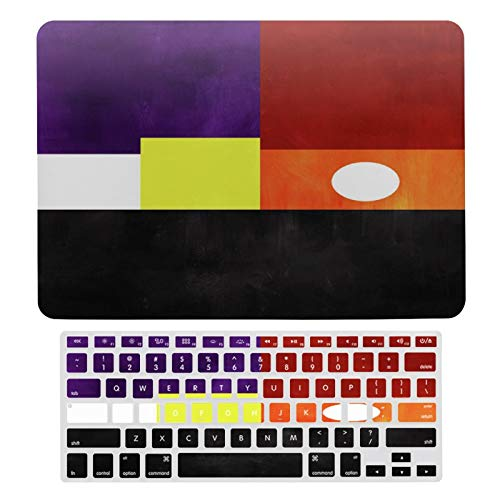 For MacBook Air 13 Inch Case A1466, A1369, Hard Shell & Keyboard Case Cover for Apple Mac Air 13, Colorful Geometric Abstract Laptop Protective Shell Set