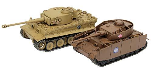 プラッツ ガールズ&パンツァー おてごろ模型戦車道 IV号戦車H型(D型改) あんこうチーム VS ティーガーI 黒...