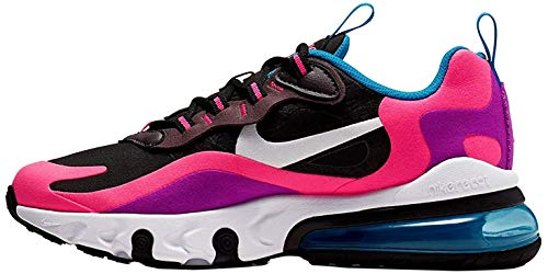 Nike Scarpe da Donna Sneaker Air Max 270 React in Tessuto Multicolor BQ0101-001