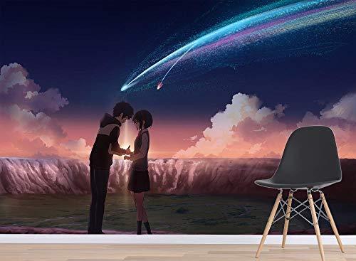 WYH-YW Fototapeten 3D Anime Wand Tapete Your Name Wohnzimmer Schlafzimmer Büro Flur Dekoration Wandbilder Moderne Wanddeko Wallpaper 200cmx140cm(W×H)