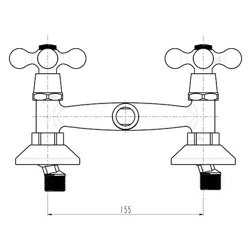Trading Monkeys – Brausegarnitur mit Zweigriffmischer in Retro-Design, Chrom - 3