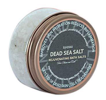 Glamorous Hub Nyassa Dead Sea Bath Salt 220g con los beneficios terapéuticos de la sal del mar muerto y la sal de Epsom para una eficacia eficaz para hombres y mujeres. Bueno para la desintoxicación