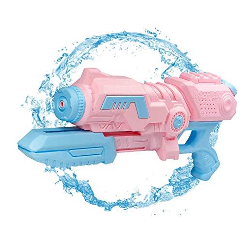 Sunshine smile wasserpistole groß,wasserpistole mit großer reichweite,wasserpistole Spielzeug,wassergewehr für Erwachsene Kinder,Water Gun,Water Blaster,wasserpistole für Garten und Strand (Hellrosa)
