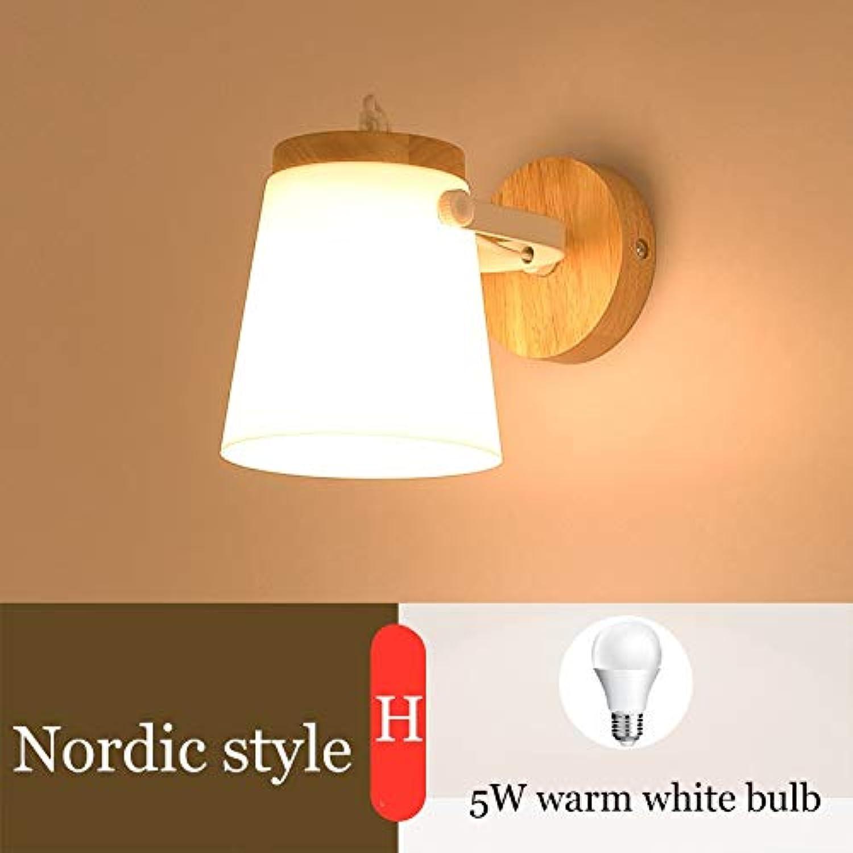 Nordic LED Wandleuchte Gang Flur Hotel Gste Schlafzimmer Nachttischlampe Einzigen Kopf Massivholz Kreative Wandleuchte, H