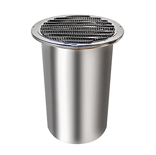 LXLTL Rejilla de Ventilación Redonda de Acero Inoxidable Salida de Aire,Longitud de la Pared del Tubo 10cm para Todos los Sistemas de ventilación de ventilación de Pared,120mm