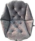 Cojín suave para asiento, cojín cómodo, cojín para sofá, silla, respaldo de cintura, para coche, hogar, silla de oficina (gris)