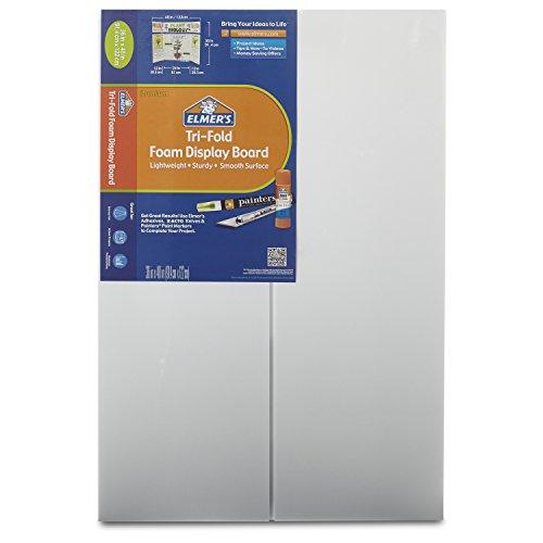 Elmer's Tri-Fold Premium Foam Display Board, White, 36x48 Inch (Pack of 12)