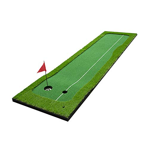 Clevr Putting Green Mat - Portable Synthetic Turf Mat - Outdoor and Indoor - for Practicing and Training – for Home Office or Backyard 9.85ft x 1.64ft