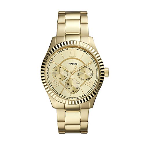 Fossil Men's Chapman Quartz Stainless Multifunction Watch, Color: Gold (Model: FS5632)