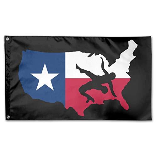 Emonye House Flag Texas Usa Wrestling Garden Flag Printing Outdoor Yard Flag Yard Banner Welcome 150X90Cm Home Decorative Holiday Vivid Classic Standard Durable