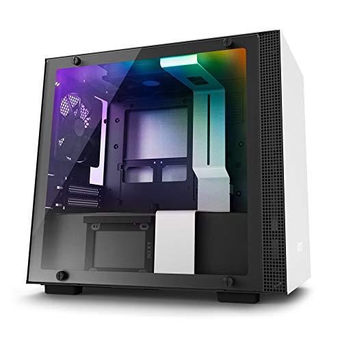 Nzxt H200i - Caja PC Gaming Mini-ITX - Panel de vidrio templado - Preparado para refrigeración líquida - Blanco/Negro - Versión 2018