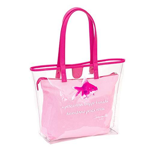 Borsa CAMOMILLA Crystal - Trasparente Rosa - Shopper