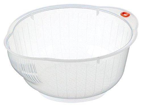 Inomata Japanese Rice Washing Bowl with Strainer 2 quart