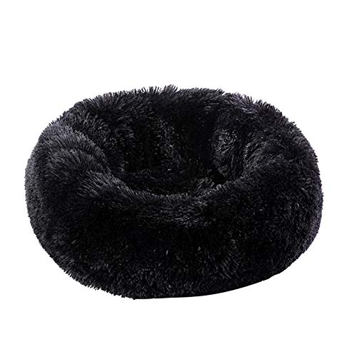 Mdsgfc Cama de peluche suave para gatos de forma redonda para dormir, sofá cama para mascotas, casa de invierno, cálido cojín de 70 cm