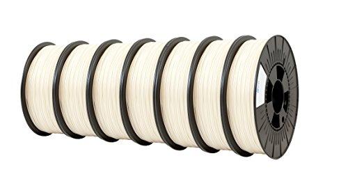 ICE FILAMENTS ICE7VALP179 PLA Filament 2,85 mm, 0,75 kg, Wishful White (lot de 7)