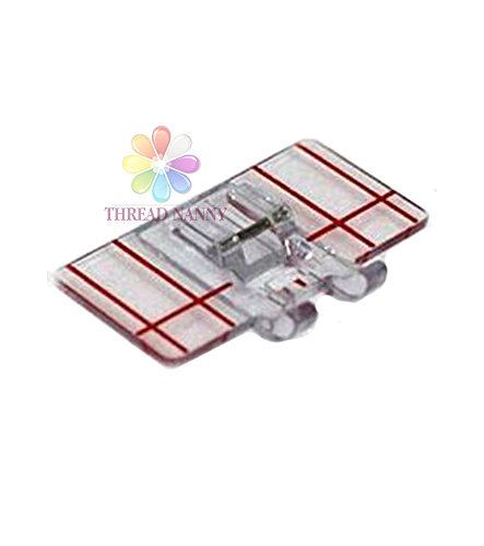 ThreadNanny Border Guide Foot Top-Load - Fits All Low Shank Snap-On Singer*, Brother, Babylock, Euro-Pro, Janome, Kenmore, White, Juki, New Home, Simplicity, Elna and More!