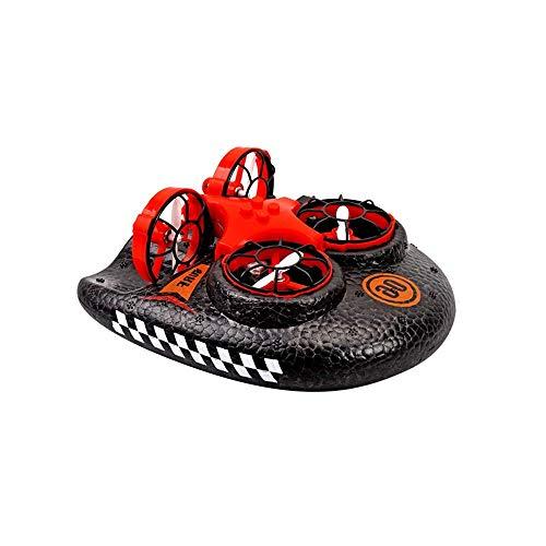 Mini-Drohne for Kinder Fernbedienung Boote for Pools und Seen RC Auto for Kinder oder Erwachsene 3-in-1 Sea-Land-Luft-Modus Schaltbare wasserdichte Hovercraft RC Spielzeug for Outdoor yqaae
