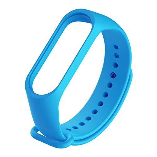 Pulsera de correa para MI BAND 5 4 3 Straps Silicone Watch Band para MI Pulsera MI Band 3 4 5 Strap pulsera pulsera 1033 (Band Color : Blue, Size : For Miband 5)