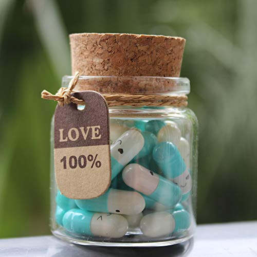 INFMETRY Capsule Letters Message in a Bottle (Light Blue 25pcs)