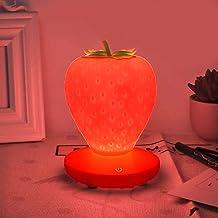 Touch Dimbare LED Nachtlampje Siliconen Aardbei Nachtlampje USB Nachtlampje voor Baby Kinderen Kids Gift Slaapkamer Decoratie