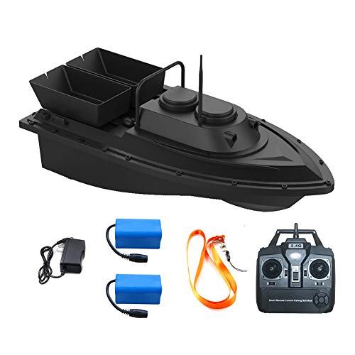 2021 Update Version Meknic Fish Bait Boat 2kg Loading 2pcs Tanks with Double Motors 500M/1640FT Remote Control Sea RC Fishing Bait Boat (RC Fishing Boat)