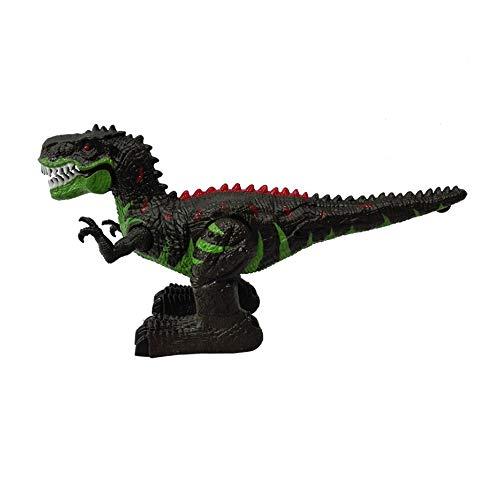 DEORBOB Simulación Modelado Control remoto Dinosaurio Juguete para niños Juguete educativo preescolar interactivo Juguetes de animales RC con caminar, luces, extremidades que pueden columpiarse, regal