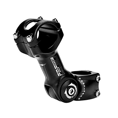 Garuot Tallo de Bicicleta, Bicicleta de ángulo Ajustable 25.4/31.88mm Manillar Tallo Elevador aleación de Aluminio aleación Frontal Tenedor Tallo Adaptador montaña Bicicleta Tallo Accesorios