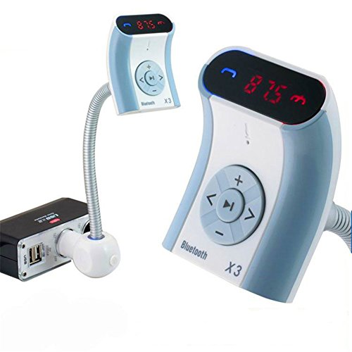 Smartera® Bluetooth Wireless in-Car, Lecteur MP3, USB Charge, transmetteur FM pour iPhone / 6 6plus / 5S / 5 / 5C / 4S / 4, iPod, Samsung Galaxy et Autre Smartphone/téléphone Portable