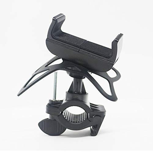 Dispositivos del soporte del teléfono de la bicicleta ABS + PC Material 360DEG; Rotación de anti-vibración, antideslizante y tornillo grueso Adecuado para teléfonos móviles de 4-6 pulgadas 6.7cm x 24