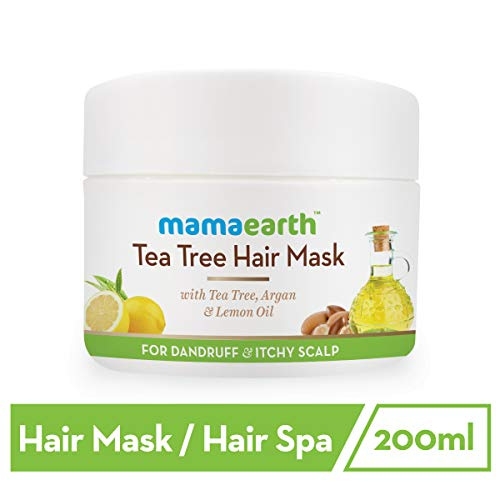Mamaearth Anti Dandruff Tea Tree Hair Mask with Tea Tree and Lemon Oil For Danrduff Control and Itch Treatement, 200ml