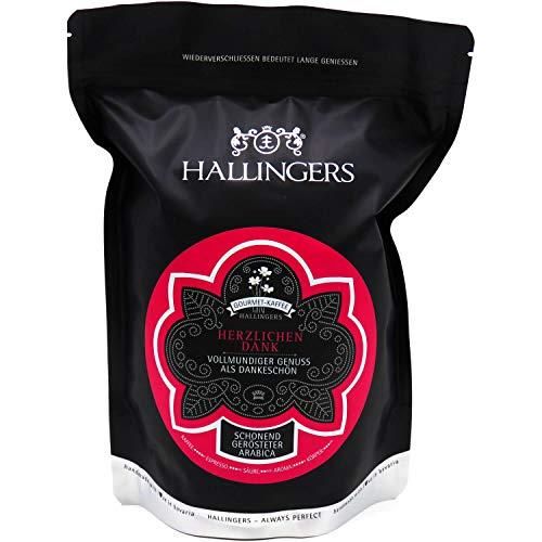 Hallingers Gourmet-Kaffee, schonend langzeit-geröstet (500g) - Herzlichen Dank (Aromabeutel) - zu Muttertag & Vatertag