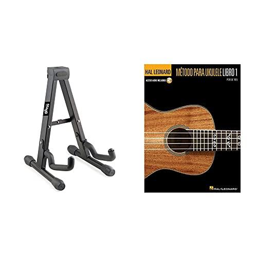 Stagg Soporte plegable para ukelele, mandolina y violín + Hal Leonard Ukulele Method (Book & Audio Online): Book 1