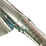 ZAIONE 21 cm x 135 cm Rolle verspiegelter Kunstlederstoff,