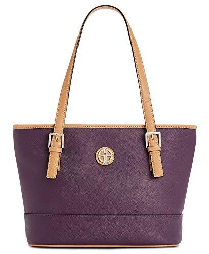Giani Bernini Women's Classic Saffiano Tote Handbag Dark Orchid Purple