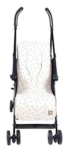 Walking Mum Estrella - Colchoneta para silla de paseo, color beige/azul
