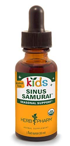 Herb Pharm Kids Certified-Organic Alcohol-Free Sinus Samurai Liquid Herbal Formula, 1 Ounce