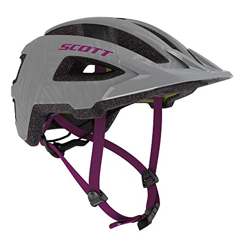 Scott Groove Plus MTB Adult Helmet Best All Mountain Bicycle Helmet CPSC Approved MIPS Technology (Grey/Ultra Violet, Small/Medium)