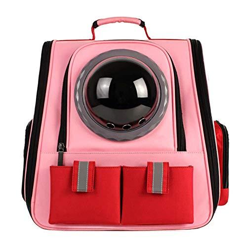 ESSEASON Pet Carrier Backpack Dog Outdoor Portable pet Dog Breathable Capsule Backpack Travel Bag Top Opening Mesh Soft-Sided Strap Dog Cat Carrier Foldable Double Shoulder Bags