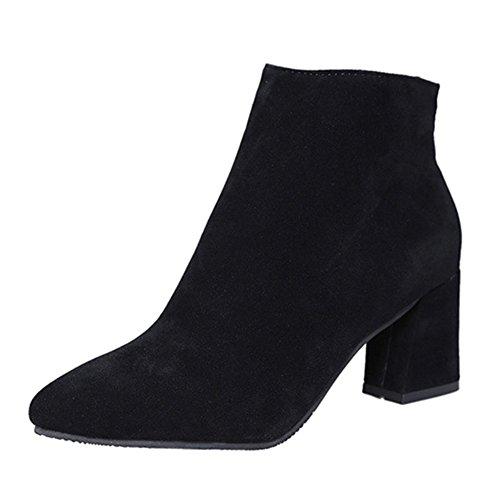 hibote Damenschuhe Elegant Stiefeletten Ankle Boots 2017 Trendige Damen Stiefeletten Pumps Stiefel...