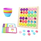 lahomia Color de Madera Match Juguete Cognitivo Niños Regalos de Kindergarten para Niños Pequeños