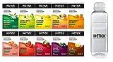 INSTICK zuckerfreies Instant-Getränk - Bundle S - 10 x 12-er Packung + Trinkflasche 0,75 L gratis