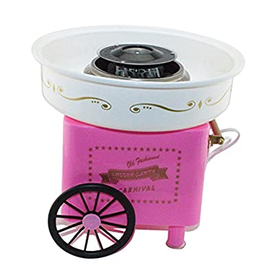 LOVIVER Cotton Candy Maker Machine Electric Kit Store Sugar Treat Matching Wheel